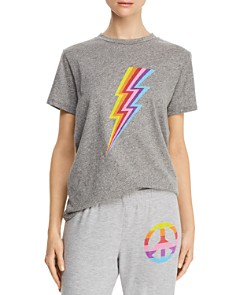 AQUA - Rainbow Lightning Bolt Tee - 100% Exclusive